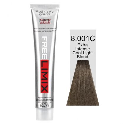 FREELIMIX VOPSEA PERMANENTA PROFESIONALA 100 ML EXTRA INTENSE COOL LIGHT BLONDE 8.001C