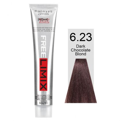 FREELIMIX VOPSEA PERMANENTA PROFESIONALA 100 ML DARK CHOCOLATE BLONDE 6.23