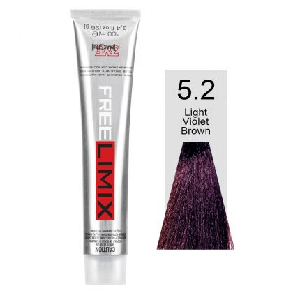 FREELIMIX VOPSEA PERMANENTA PROFESIONALA 100 ML LIGHT VIOLET BROWN 5.2