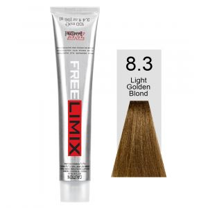 FREELIMIX VOPSEA PERMANENTA PROFESIONALA 100 ML  LIGHT GOLDEN BLONDE 8.3