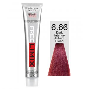 FREELIMIX VOPSEA PERMANENTA PROFESIONALA 100 ML  DARK INTENSE AUBURN BLONDE 6.66