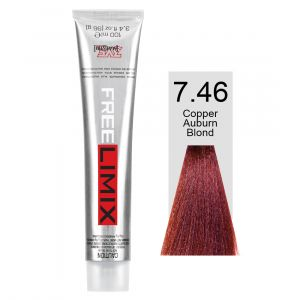 FREELIMIX VOPSEA PERMANENTA PROFESIONALA 100 ML  COPPER AUBURN BLONDE 7.46