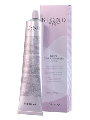 INEBRYA BLONDESSE TONER SEMI PERMANENT 100ML METALLIC MYSTIC BLACK PEARL